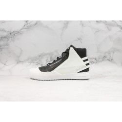 Adidas Y-3 Bball Tech High-Top Sneakers Black White