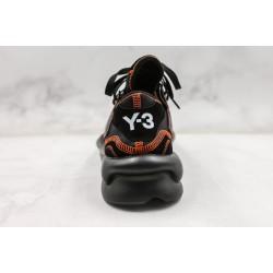 Adidas Y-3 Kaiwa Chunky Sneakers Black Orange
