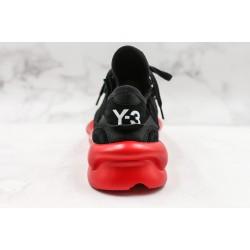 Adidas Y-3 Kaiwa Chunky Sneakers Black Red