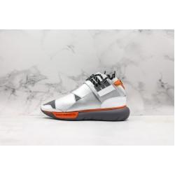 Adidas Y-3 Qasa High Silver Gray Orange AA5566