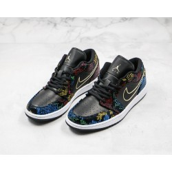 Air Jordan 1 Low BHM Black Orange CW5580-001 36-45