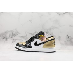 Air Jordan 1 Low Black Gold Toe CQ9447-700 36-45