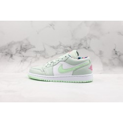 Air Jordan 1 Low  White Green 554723-051 36-45