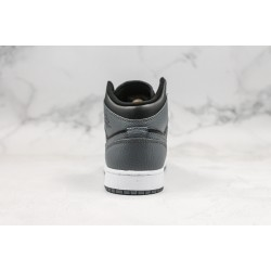 Air Jordan 1 Mid Black Gray 554725-041 36-45