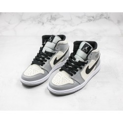Air Jordan 1 Mid Black Gray White 554724-092 36-45