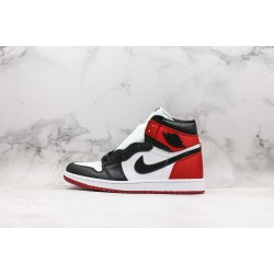 "Air Jordan 1 High OG Satin ""Black Toe"" Black Red CD0461-016 36-46"