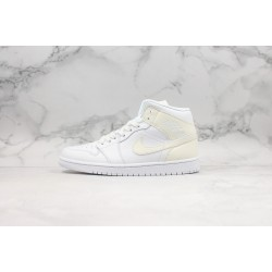 Air Jordan 1 Mid All White BQ6472-112 36-45