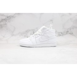 Air Jordan 1 Mid All White 554725-129 36-45