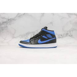 Air Jordan 1 Mid Black Blue 554724-068 36-45