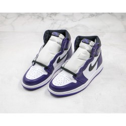 Air Jordan 1 High Black Purple White 555088-500