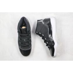 "Air Jordan 11 ""Jubilee"" Black White Silver 378038-011"