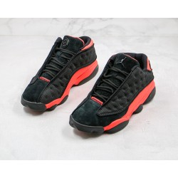 "Clot x Air Jordan 13 Low ""Infra Bred"" Black Red AT3102-006"