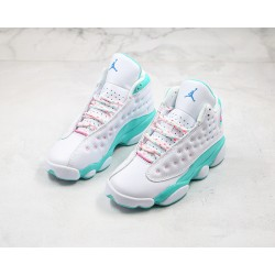 "Air Jordan 13 GS ""Aurora Green"" White Green 439358-100"