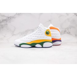 Air Jordan 13 White Yellow Blue CV0785-158 36-45