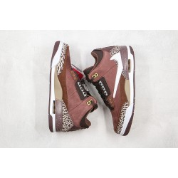"Air Jordan 3 High OG ""Antique Brass"" Red Brown 626988-018"