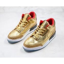 "Air Jordan 3 ""Gold Oscars"" Tinker Spike Lee Gold AJ3-933512"