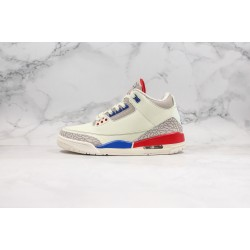 Air Jordan 3 Retro Hall of Fame White Blue Red 136064-140 36-45