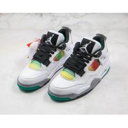 Air Jordan 4 Rasta White Green Orange AQ9129-100