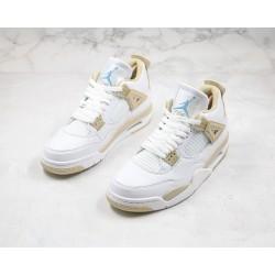 "Air Jordan 4 Retro ""Linen"" White Khaki 487724-118"