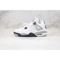 "Air Jordan 4 Retro ""White Cement"" Grey Black 840606-192"