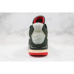 """Off-White x Air Jordan 4 Retro """"Bred"""" Cream Sail Black Grey Red CV9388-001"""