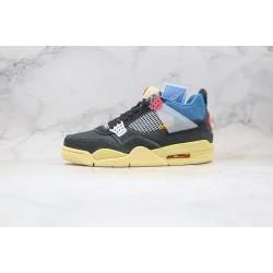 "Air Jordan 4 Retro SP ""Off Noir"" Black Blue Red Yellow DC9533-001"