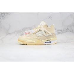 """Off-White x Air Jordan 4 Retro """"Cream Sail"""" White CV9388-100"""