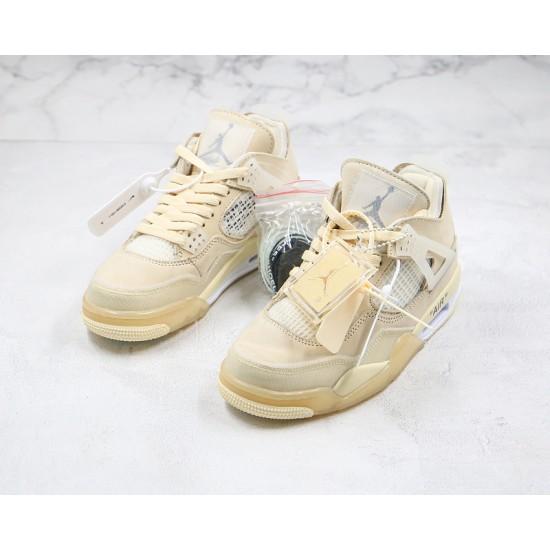 Off-White x Air Jordan 4 Retro Cream Sail White CV9388-100