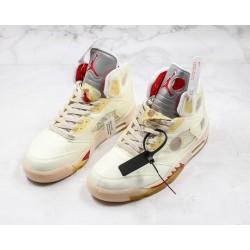 Air Jordan 5 Cream White Red Yellow CT8480-100 36-45