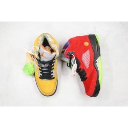 "Air Jordan 5 ""What The"" Red Yellow CZ5725-700"
