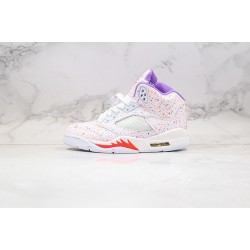 "Air Jordan 5 GS ""Easter"" White Pink Purple CT1605-100"