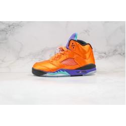 Air Jordan 5 Fresh Prince Orange Purple Blue 136027-007