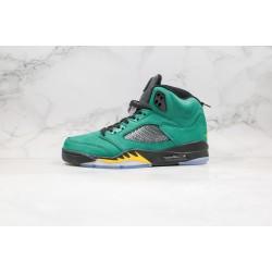Air Jordan 5 Green Black Yellow 454803-535