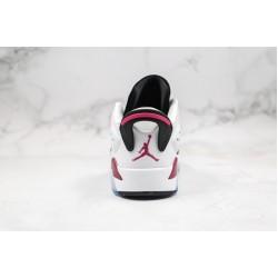 Air Jordan 6 Low GS White Black Pink 768878-107