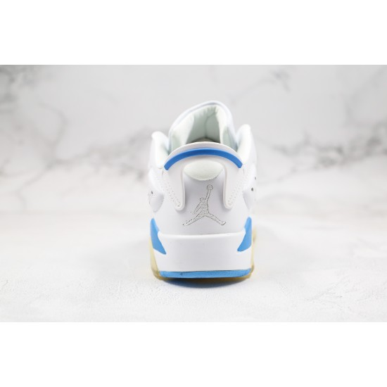 Air Jordan 6 Low GS White Blue 304401-141