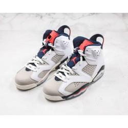Air Jordan 6 Retro Gray White Red 384664-104 36-45