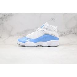 "Air Jordan 6 Rings ""UNC"" Blue White CW7037-100"
