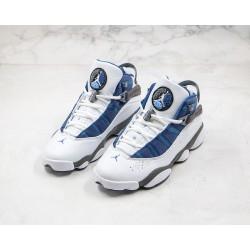 "Air Jordan 6 Rings ""Flint"" Blue White Grey 322992-141"