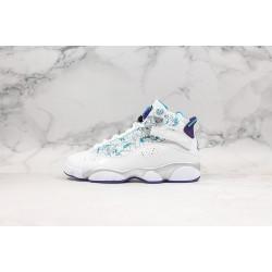 """Air Jordan 6 Rings """"Utah"""" White Blue Silver 322992-153"""