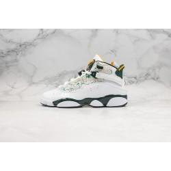"""Air Jordan 6 Rings """"Seattle"""" White Green 322992-102"""