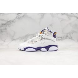 "Air Jordan 6 Rings ""Hollywood"" White Purple Orange 322992-152"