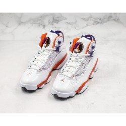 "Air Jordan 6 Rings ""Phoenix"" White Red Purple 322992-101"
