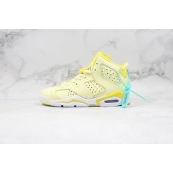 Air Jordan 6 GS Floral Yellow White 543390-800 36-45
