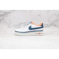 Foot Locker x Nike Air Force 1 Low GS White Blue Orange Pink CK9708-100 36-40