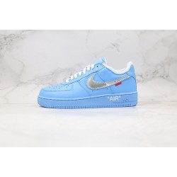 Off-White x Nike Air Force 1 MCA Low Blue Silver CI1173-400 36-45