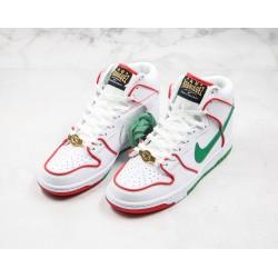 Paul Rodriguez x Nike SB Dunk High hite Red Green CT6680-100