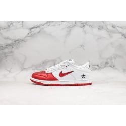 Supreme x Nike SB Dunk Low ZG White Red