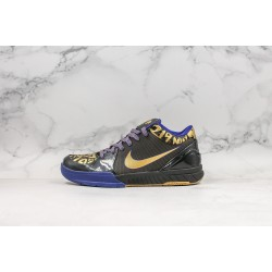 Nike Zoom Kobe 4 Black Purple Gold 354187-001 40-46