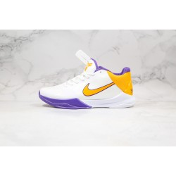 Nike Zoom Kobe 5 Yellow Purple White 386429-102 40-46